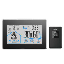 LCD Tacho Außentemperatur Feuchtigkeit Drahtloses Messgerät Hygrometer Digital