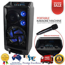 Portable Karaoke Machine Home Audio Bluetooth Speaker System Wireless Microphone