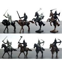 28x/Set Soldier Knights Warriors Horses Medieval Model Action Figures Toy 5-7cm