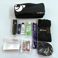 Thai Airways Samsonite Business Class Amenity toiletry  kit black brand new