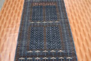 Oriental Area Rugs Parda Design rug 3'x5' ft Blue Color Hand Knotted Wool Carpet