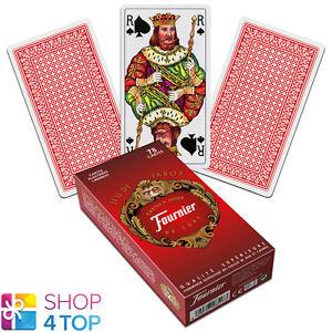 FRENCH TAROT DECK FOURNIER 78 PLAYING CARDS RED JEU DE NEW