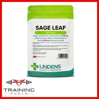 Lindens Sage Leaf 500mg 100 Tablets Menopause Support