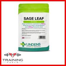 Lindens Sage Leaf 500mg 100 Tablets Menopause Support