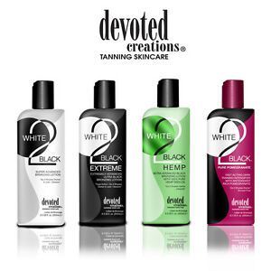 Devoted Creations White to Black Tanning Accelerator Lotions NEW Pomegranate!