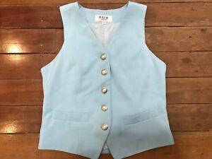 Preowned AJSA Pale Blue Size Child 12 Show Vest