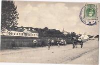 DENMARK Old postcard RODBY VESTERGADE MED SYGEHUSET TO HELLERUP YEAR 1911