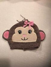 NWT Gymboree JUNGLE GYM Pink Cuffed Knit Hippopotamus Face Beanie HAT