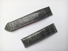 Genuine CARTIER 18mm Gray crocodile leather band/strap 18mm 100% Original