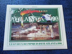 Zaire / Congo 1996 Olympic Games Atlanta Mini Sheet MNH 2
