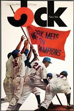"""New listing 1969 NY Mets Poster - Jock Magazine #1Cover (29"""" X 45"""") Authentic MINT Condition"""