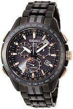 New Seiko Astron Solar GPS Chronograph Titanium Limited Editition Watch SSE019