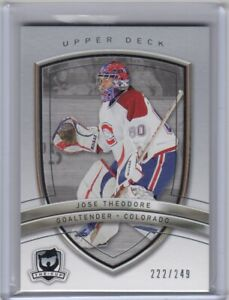 JOSE THEODORE - 2005/06 THE CUP BASE CARD #31  #222/249