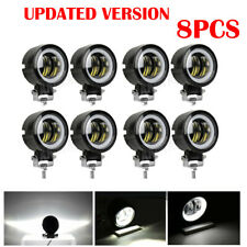 8pcs 3Inch LED Work Light Pods Spot Beam Off-road Round White Halo For ATV SUV