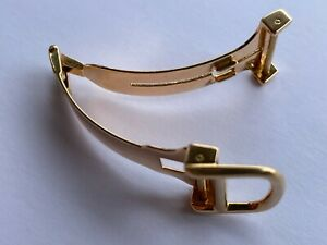 GENUINE CARTIER DEPLOYMENT BUCKLE CLASP 750 SOLID GOLD 18K SWISS MADE 14mm