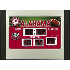 Alabama Crimson Tide Scoreboard Desk & Alarm Clock [NEW] NCAA Watch Time Office