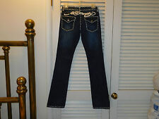 """ED HARDY JEANS """"Bootcut Lowrise Flappockets 26 Blue Stretch"""