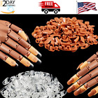 200 Pieces Replacement Nail Tips for Nail Manicure Training Practice Hand