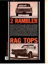 1965 RAMBLER AMERICAN / AMBASSADOR 900 ~ ORIGINAL 6-PAGE ARTICLE / AD