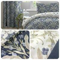 Dreams & Drapes VENITO Blue Easy Care Duvet Cover Set & Bedroom Accessories