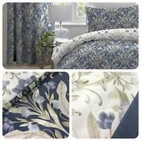 Dreams & Drapes VENITO Blue Easy Care Duvet Cover Set & Bedroom Accessories