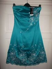 Jane Norman Evening Bridesmaid Party Floral Prom Summer Dress s 10 NEW RRP £50
