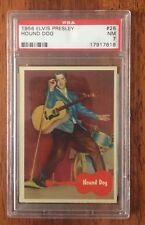 Elvis Presley - 1956 Trading Card # 27 - Hound Dog - PSA 7