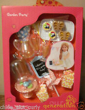 "American Our Generation Garden Party Lemonade Kitchen RV Food 18"" Girl Doll set"