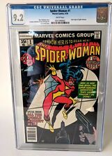 Spiderwoman #1 CGC 9.2 NEAR MINT spiderman Marvel Bronze comic spiderman