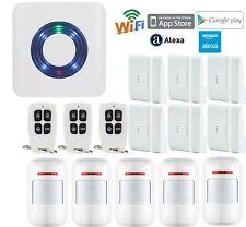 M17 WiFi IP APP Wireless Home Security Alarm Burglar System+Connect Amazon Alexa