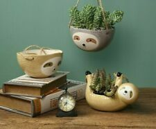 Wall Hanging Ceramic Vase Potted Plant Animal Sloth Flower Pot Home Garden Decor