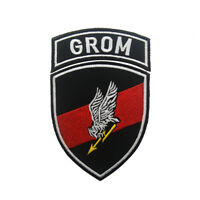 Poland Army Special Forces GROM Military Tactical Morale Hook Loop Patch Badge