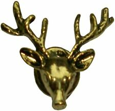 Bassin and Brown Mens Stag Lapel Pin - Vintage Bronze