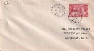 CANADA 1935 SILVER JUBILEE 3 CENT PLAIN COVER CHURCHILL MAN CDS
