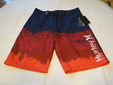 Men's Hurley board shorts swim trunks boardshorts 32 6cd Brt Crimson Relief NWT