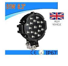 2 X 51W POWERFUL 24V 12V LED SPOT LIGHTS LAMPS  BUMPERS ROOF BARS TRUCK BOAT SUV