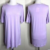 Universal Standard J. Crew Purple Tee Shirt Dress Mini Small Casual
