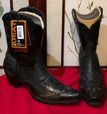 Ariat Ladies - Dahlia Black/Ebony Floral Wingtip Western Boot - 9M 10011914