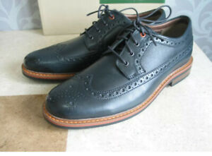 CLARKS MELSHIRE WING NAVY LEATHER BROGUES SHOES UK SIZE 7 G EU 41