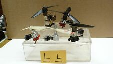 PRE OWNED 5PC RC/CL PLANE ENGINE MOTORS W/ PROPS AS IS BOX5-L