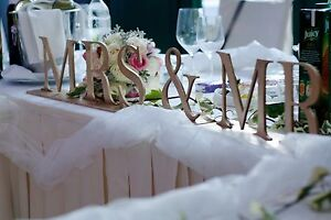 MR & MRS Wedding Crop, 80x11cm, Sweetheart Table, Choose Your Color