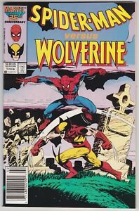 Spider-Man Versus Wolverine #1 NM- 9.2 Double Size First Issue 1987!