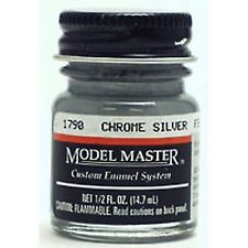 Testors 1790 FS17178 Chrome Silver Enamel Paint 1/2 oz. Model Master