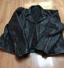 Vintage ALLSTATE LEATHER ? Motorcycle Bike Men's Black Buffalo ? Leather Jacket