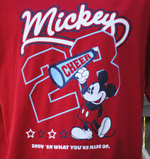 Disney Mickey Mouse Size XL Tee T-Shirt Cheer Megaphone Red White Blue 28