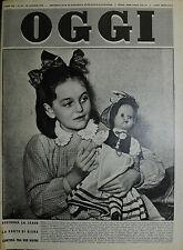 OGGI N°16/ 19/APR/1951* DECIDERA' LA LEGGE LA SORTE DI DIANA CONTESA FRA 2 MADRI
