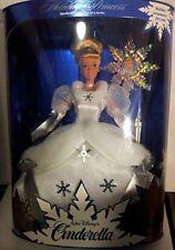 Disney Holiday Princess Cinderella Barbie 1996, NRFB Mint w/LN box 16090