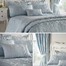 Blue Duvet Covers Damask Textured Jacquard Quilt Sets Luxury Bedding Collection
