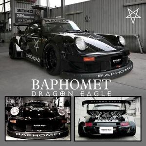Time Micro 1:64 Model Car Porsche RWB 964 BAPHOMET Demon Ver Diecast Car