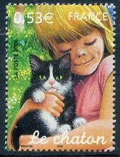 STAMP / TIMBRE FRANCE  N° 3897 ** SERIE NATURE FAUNE / LE CHATON / LE CHAT / CAT